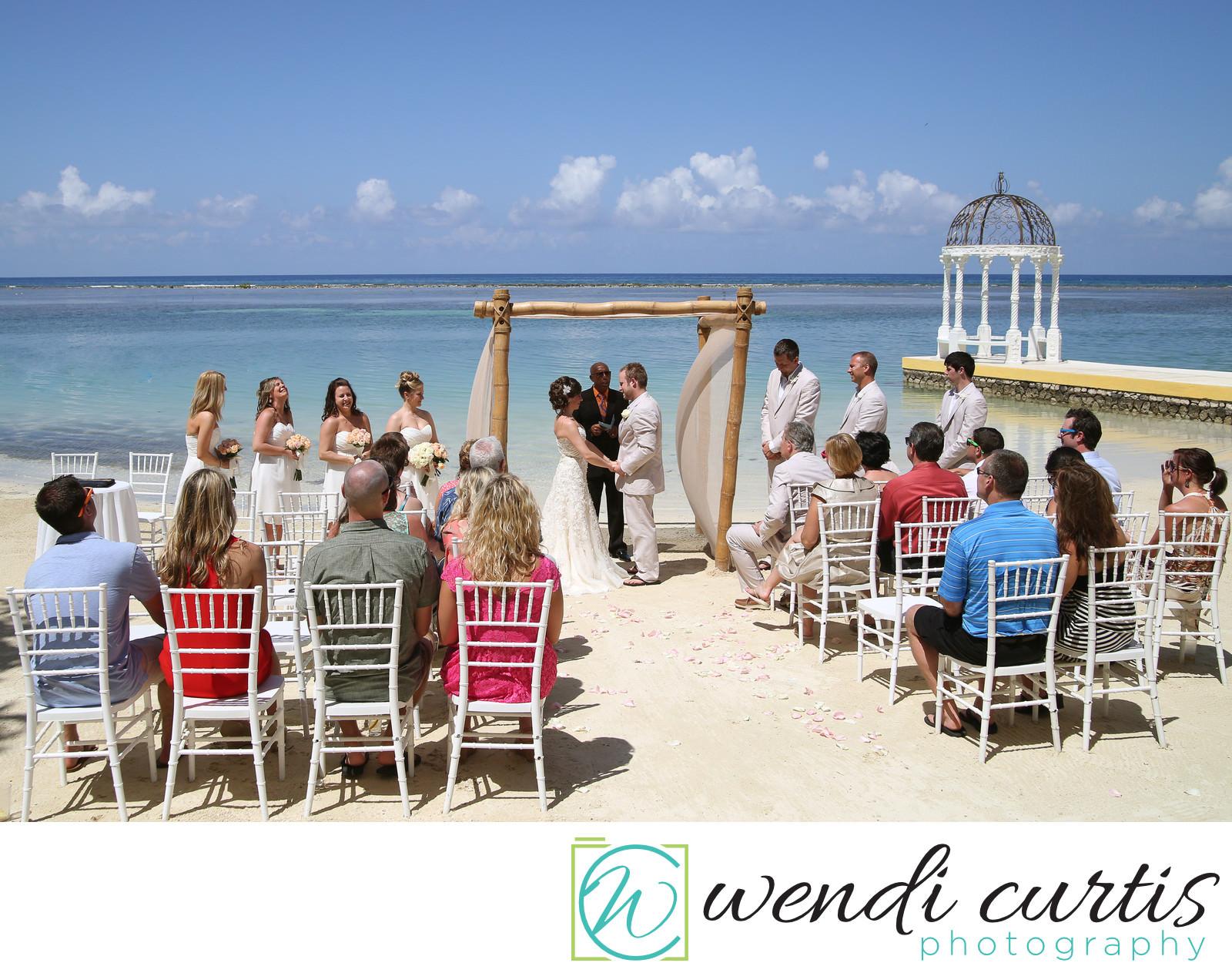 Jamaica Montego Bay Destination Beach Wedding Ceremony